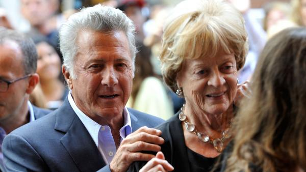 Director Dustin Hoffman and actress Maggie Smith arrive at the <em>Quartet</em> Premiere at the 2012 Toronto International Film Festival on September 9, 2012.