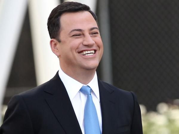 Jimmy Kimmel attends the Emmy Awards Red Carpet Rollout Sept. 19. Sunday night, beginning at 7:30, we'll be chronicling his hosting effort at the ceremony.