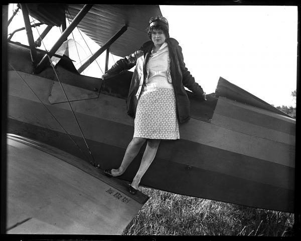 "Elizabeth Skadden, 18, wanted to become an endurance flyer when she was featured in the <em>State Journal</em> on Oct. 6, 1929. Her dreams may have been inspired by Charles Lindbergh, who just two years earlier made his famous nonstop flight across the Atlantic. ""Just as soon as my chance comes, I hope to set a new endurance record for women flyers which will stand for a long, long time."""