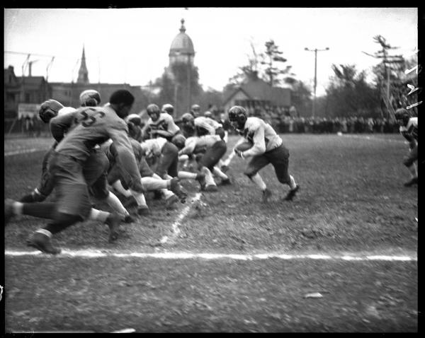 Springfield High School Senators defeated Peoria Central High School, 19-6, Oct. 31, 1931.