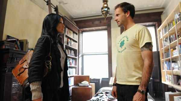 Lucy Liu and Jonny Lee Miller star as modern versions of Dr. Watson and Sherlock Holmes on the CBS drama <em>Elementary</em>.