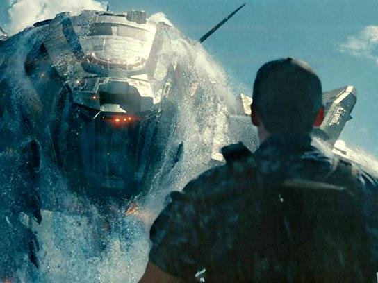 A scene from <em>Battleship</em>, which opens this weekend in the U.S. Thanks to earlier releases abroad, the film has already grossed $215 million worldwide.