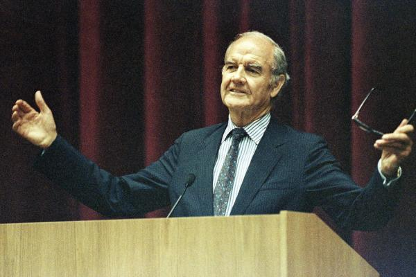 McGovern, who lost his Senate seat in 1980, teaches American foreign policy at Cornell in 1990.