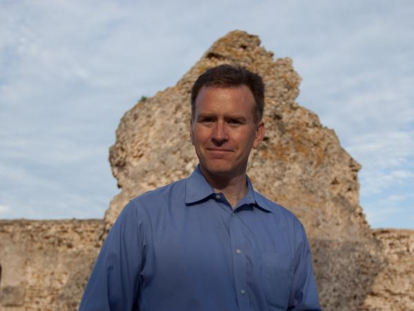 Steve Inskeep at the ruins of Carthage.