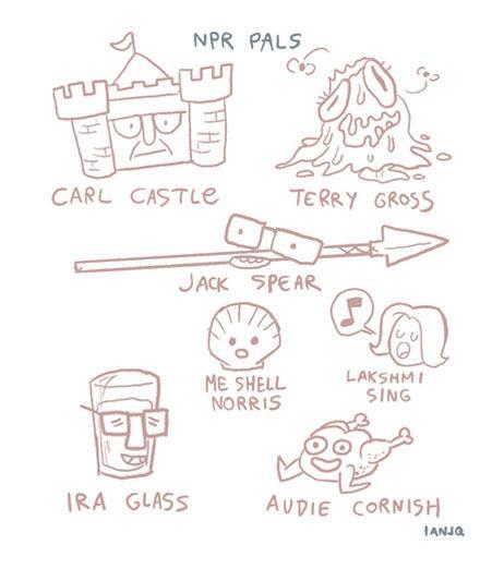 """More NPR Pals"" from cartoonist Ian Jones-Quartey"