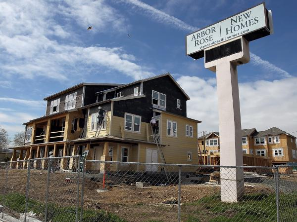 San Mateo, Calif.: Construction was underway earlier this year at a new housing development.