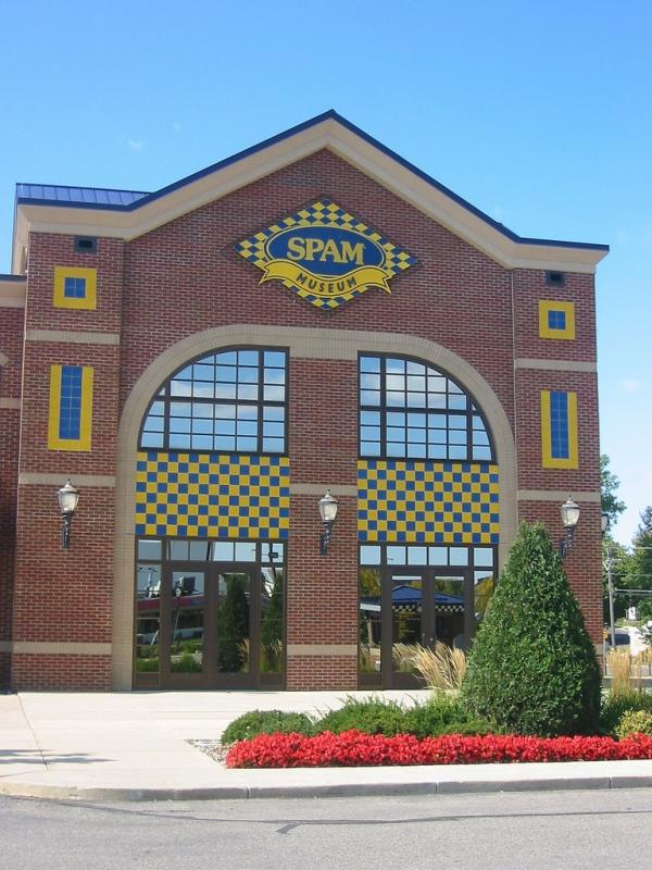 The Spam Museum in Austin, Minn., even includes Spam-labeled parking spaces.