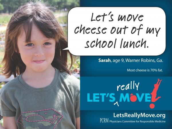 The newest campaign from vegan advocacy group Physicians Committee for Responsible Medicine targets dairy in school lunches.