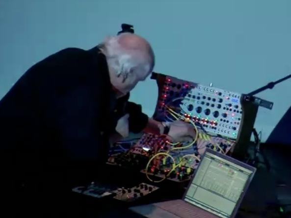 Morton Subotnick performing <em>Silver Apples of the Moon</em> in 2011