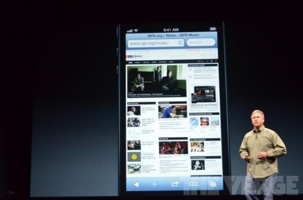 Apple's Philip Schiller on stage at the Apple Keynote to present iPhone 5.