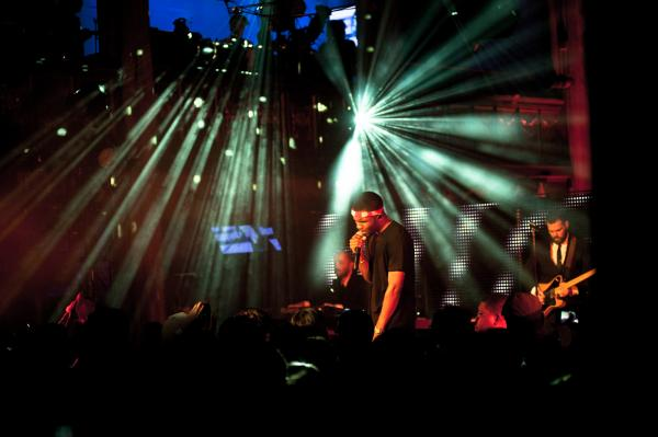 Frank Ocean performs at Angel Orensanz Church. The special show was announced that day and a few hundred lucky fans were able to RSVP for free tickets.