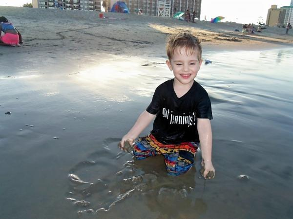 "<em>All Things Considered </em>producer Melissa Gray's son Thomas, in his ""Got Jennings?"" shirt."
