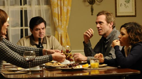 The Ostroffs (Allison Janney and Oliver Platt) and their good friends, the Walling family (Hugh Laurie and Alia Shawkat), are shaken when the Ostroffs' daughter comes home for the holidays.