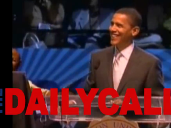 A screenshot of a video published by the Daily Caller.