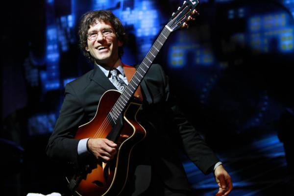 Versatile guitarist Frank Vignola has clearly studied Django Reinhardt-style jazz.
