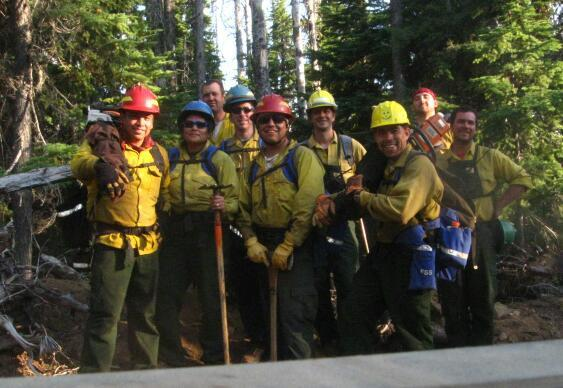 The Confederated Tribes of Warm Springs Forestry Crew battled the massive Waterfalls 2 wildfire in Oregon this year. Photo via Inciweb