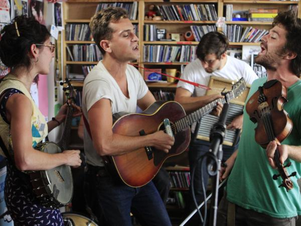 Spirit Family Reunion performs at Tiny Desk concert on Sept. 18.