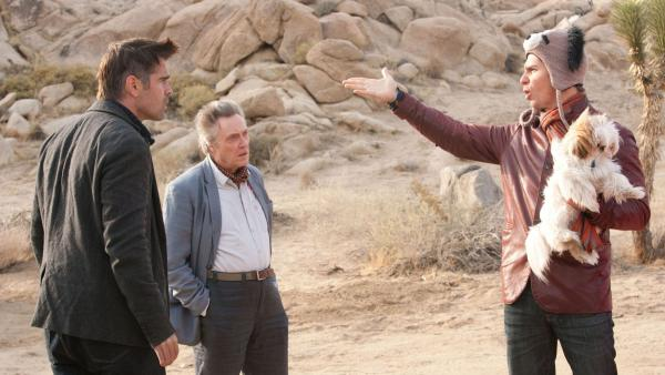 <strong>Crazy Funny:</strong> <em>Seven Psychopaths</em> centers on Marty (Colin Farrell), Hans (Christopher Walken) and Billy (Sam Rockwell), three Tinseltown oddballs with a sideline in dognapping.