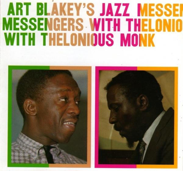 Cover art to the 1957 recording <em>Art Blakey's Jazz Messengers With Thelonious Monk</em>.