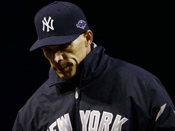 New York Yankees manager Joe Girardi during Monday's game against the Baltimore Orioles.
