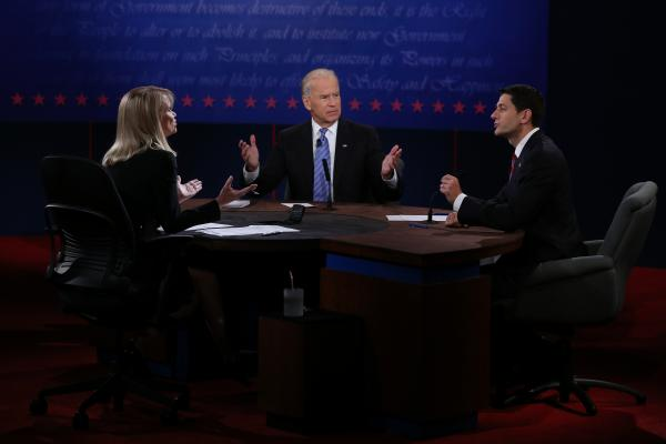 Biden and Ryan dispute whether simply cutting taxes can boost job growth.