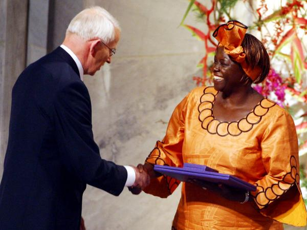 Nobel Peace Prize Laureate Wangari Maathai became the first African woman to win a Nobel in 2004.