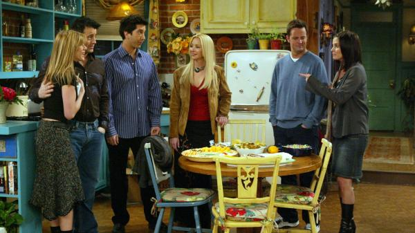 From <em>Friends</em>: Jennifer Aniston, Matt LeBlanc, David Schwimmer, Lisa Kudrow, Matthew Perry and Courteney Cox. But you knew that.