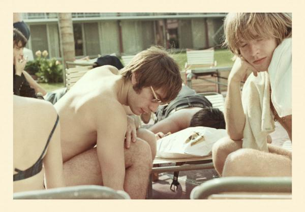 Brian Jones and Charlie relaxing