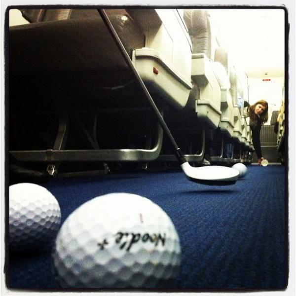"Plane golf on the charter, Lakeland, Florida. <a href=""http://web.stagram.com/p/285633296361493466_15557467"">@ericthayer</a>"