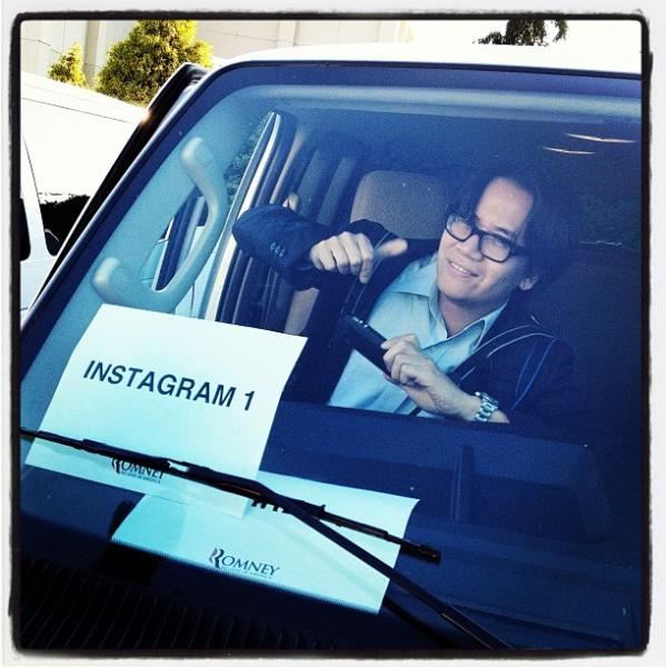 "Instagrammer extraordinaire <a href=""http://web.stagram.com/n/charlesdharapak/"">@charlesdharapak</a> rides shotgun in Instagram 1 in Harrisonburg, VA. <a href=""http://web.stagram.com/p/295440511307616503_23864099"">@sullyfoto</a>"