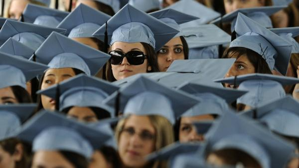 How bright is their future? Students at Barnard College's graduation ceremony last May.