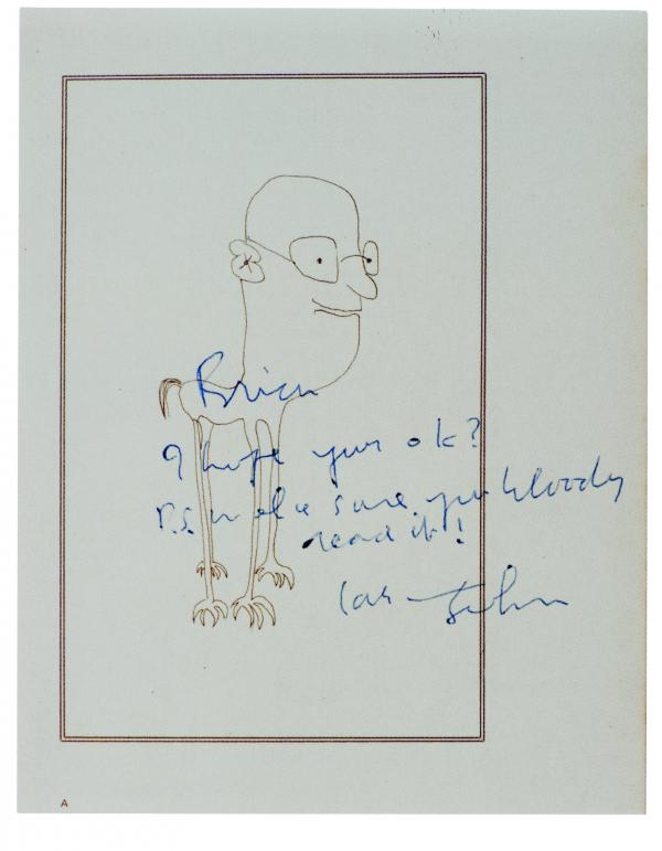 Book inscribed to Brian Epstein, 1965