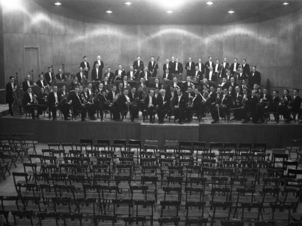 The real Palestine Symphony Orchestra, subject of Aronson's documentary.