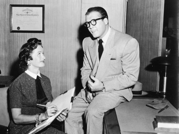 Back in the day, Clark and Lois were news hounds. Would they be bloggers today? (George Reeves and Noel Neill, from the television series <em>Adventures of Superman,</em> circa 1955)