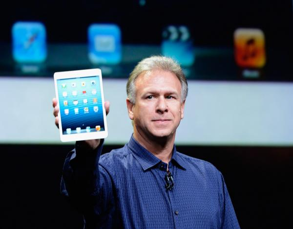 Apple Senior Vice President of Worldwide product marketing Phil Schiller announces the new iPad Mini during an Apple special event at the historic California Theater on Tuesday.