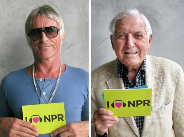 Paul Weller (l) and Monty Hall (r) at NPR West.