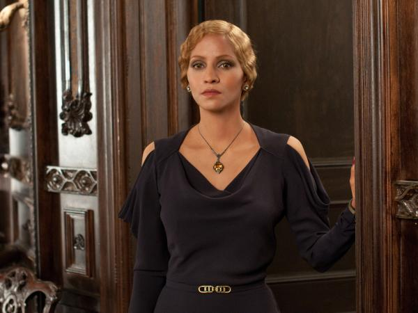 Halle Berry's characters in <em>Cloud Atlas</em> crisscross time and space. The actress plays six roles, including German intellectual Jocasta Ayrs (above) and an Asian man.