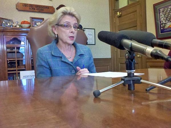 Outgoing Washington Governor Chris Gregoire says campaign rhetoric doesn't match budget reality. Photo by Austin Jenkins