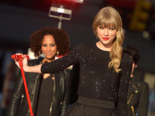Taylor Swift performs on <em>Good Morning America</em> earlier this week. Her fourth album, <em>Red</em>, was released Monday.