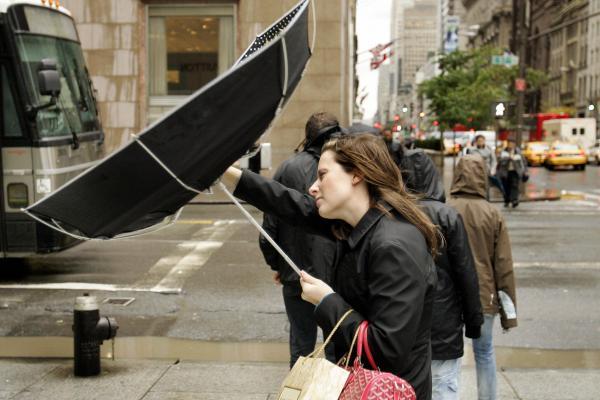 Hurricane Wilma takes on New York City, 2005.