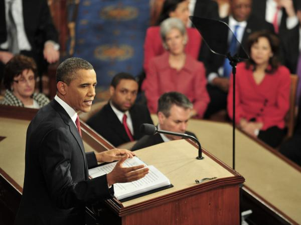 President Obama delivers his annual State of the Union address before a joint session of Congress.