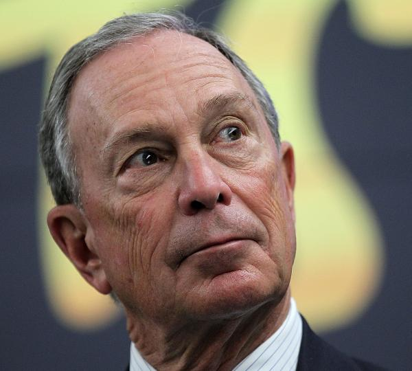 What's he got his eye on now? New York City Mayor Michael Bloomberg.