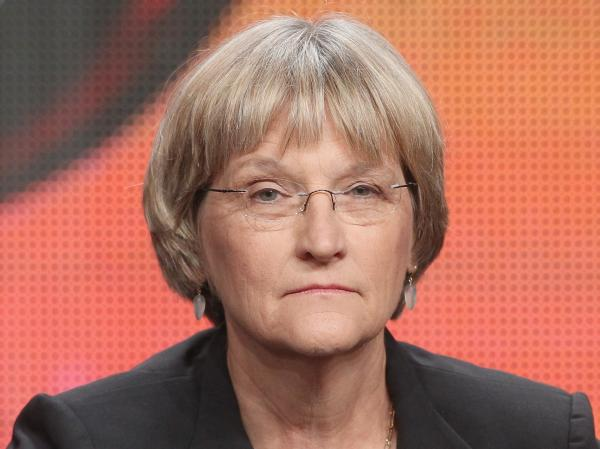 Historian Drew Gilpin Faust speaks onstage at the American Experience <em>Death and the Civil War</em> panel in July.