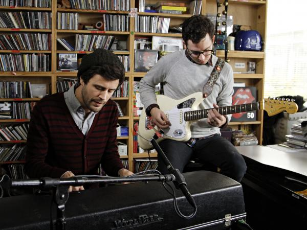 Passion Pit performs on Tiny Desk on Oct. 15.