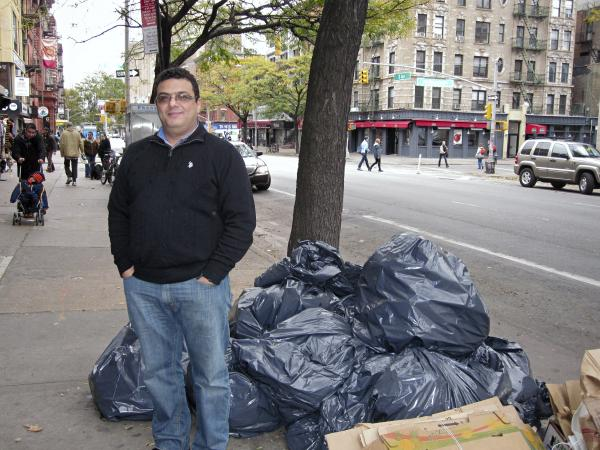Fawzy Abdelwahid, the owner of B&H Restaurant in the East Village, said he had to throw out $4,000 of food spoiling in his refrigerator. His is one of many small businesses impacted by power outages in Manhattan.