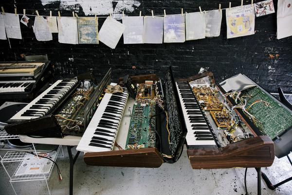 Some of the instruments, scores and other materials the New Amsterdam label is trying to salvage after Sandy.