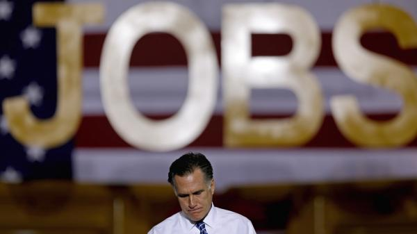 Former Massachusetts Gov. Mitt Romney campaigns Friday in Etna, Ohio.