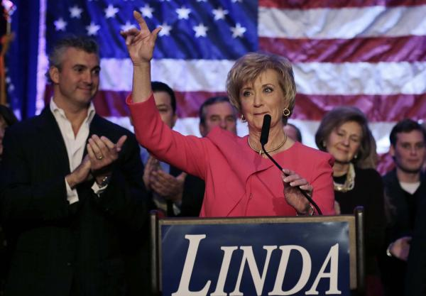 Republican Senate candidate Linda McMahon concedes the election to Democrat Chris Murphy on Tuesday in Stamford, Conn.