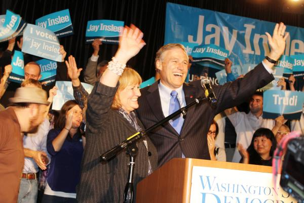 Democrat Jay Inslee. Photo by Debra Wang.
