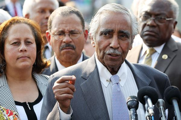 <strong>IN:</strong> New York Democratic Rep. Charles Rangel speaks during a news conference in Washington in June.